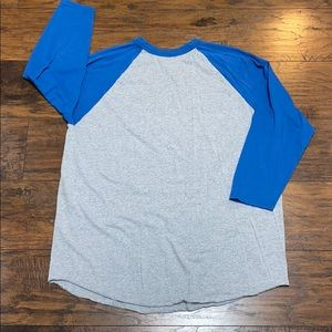Augusta adult 2X raglan style 3/4 sleeve t-shirt